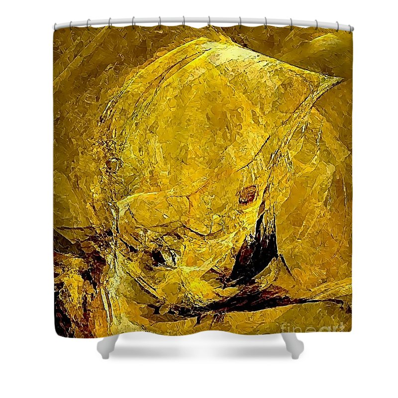 Graphics Shower Curtain featuring the digital art Abstraction 327 - Marucii by Marek Lutek