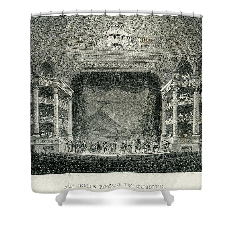 Event Shower Curtain featuring the digital art Academie Royale Du Musique, Paris by Duncan1890