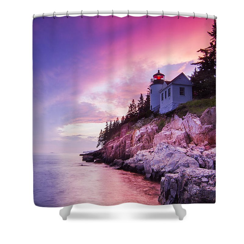 Purple Shower Curtain featuring the photograph Acadia Sunset by Mircea Costina Photography