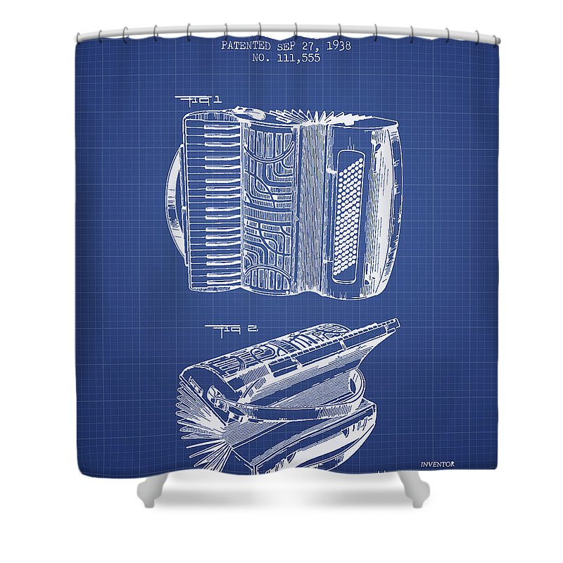Accordion Shower Curtain Featuring The Digital Art Patent From 1938