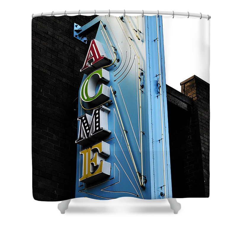 Vancouver Shower Curtain featuring the photograph Acme by The Artist Project
