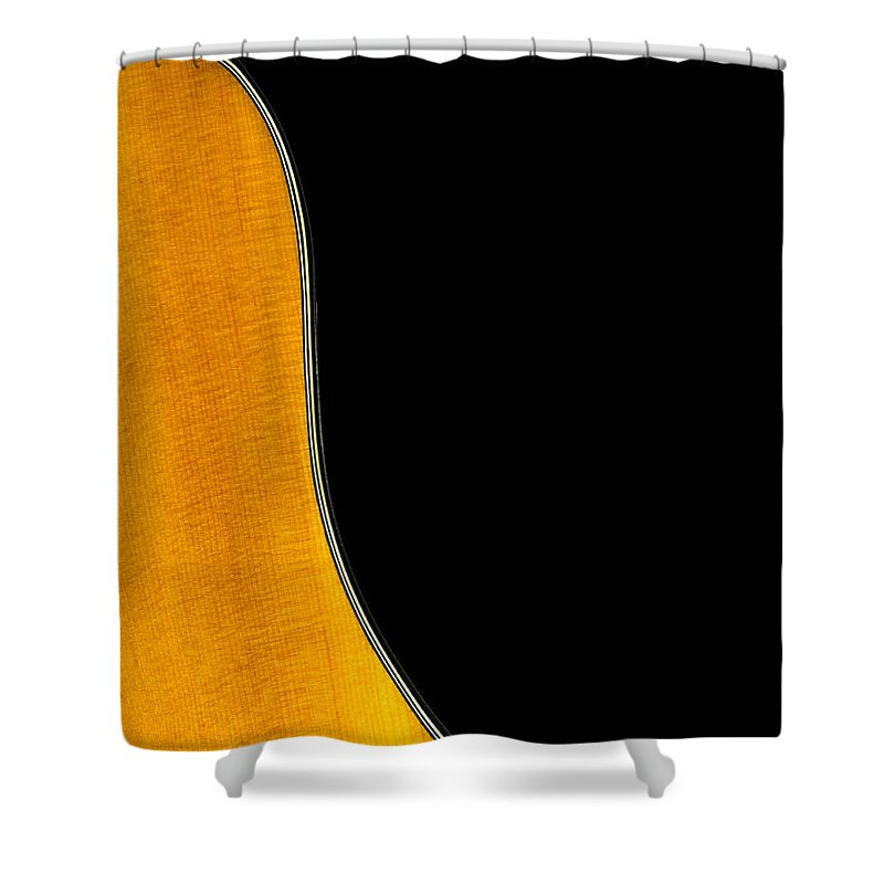 Guitar Shower Curtain featuring the photograph Acoustic Curve In Black by Bob Orsillo