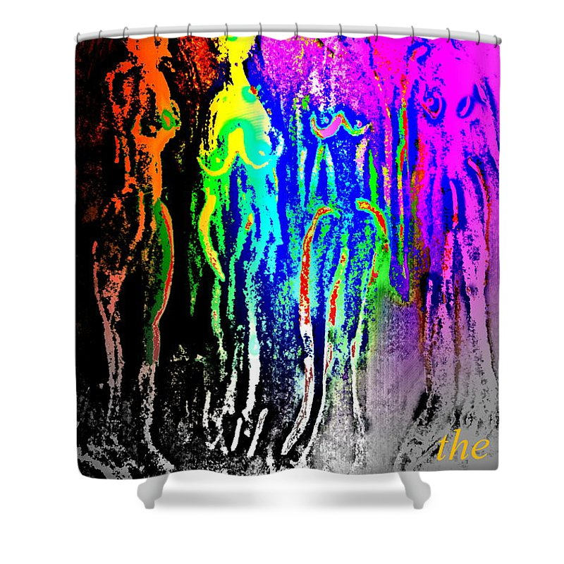 Horse Shower Curtain featuring the painting I Will Follow You Across The Universe But Do You Care At All by Hilde Widerberg