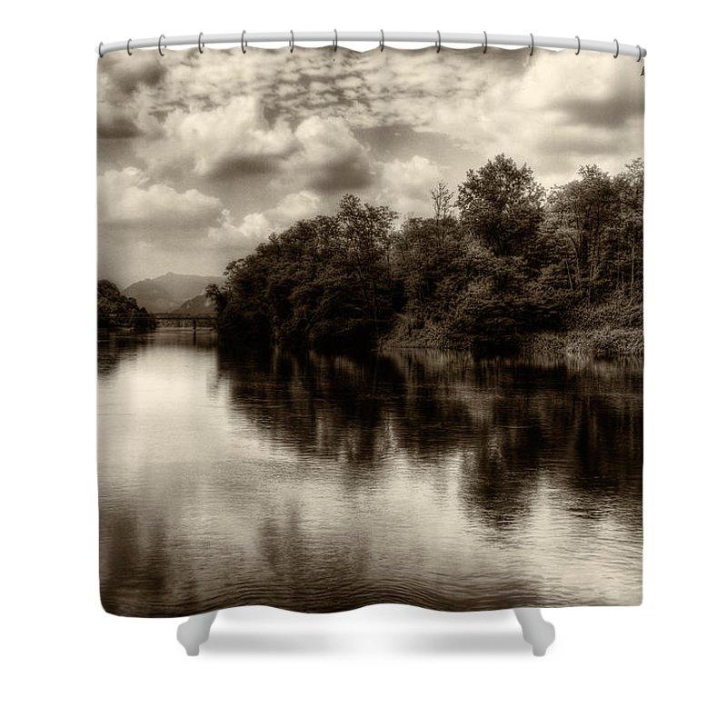 Adda Shower Curtain featuring the photograph Adda River 2 by Roberto Pagani