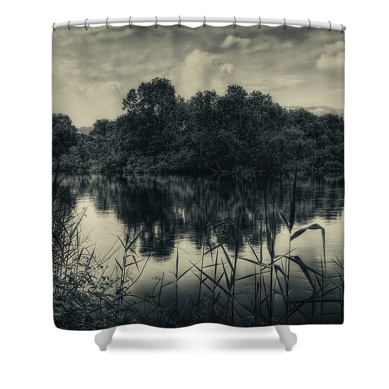 Adda Shower Curtain featuring the photograph Adda River 3 by Roberto Pagani
