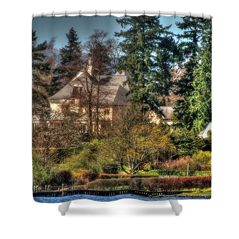 Addams Family Shower Curtain featuring the photograph Addams Family Hotel by Doc Braham