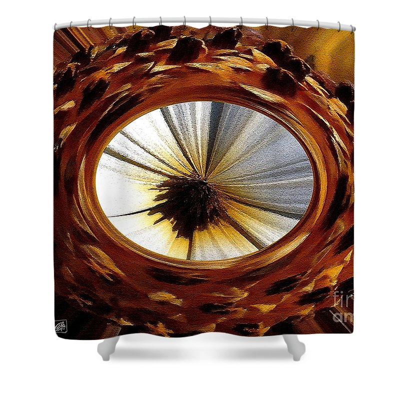 Mccombie Shower Curtain featuring the painting African Moon Abstract by J McCombie