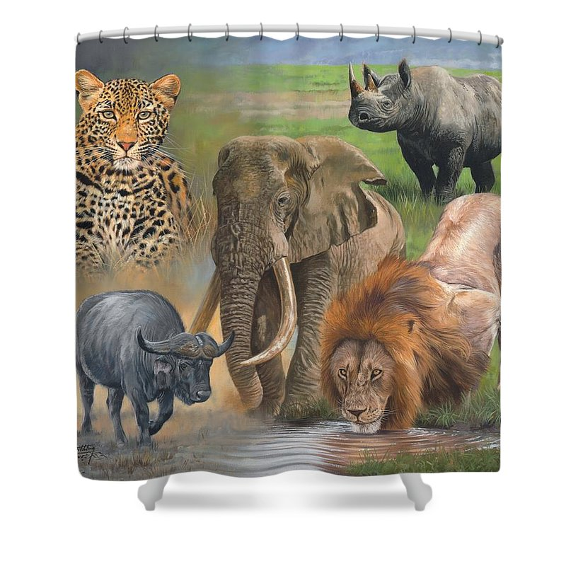 Rhinocerus Shower Curtains