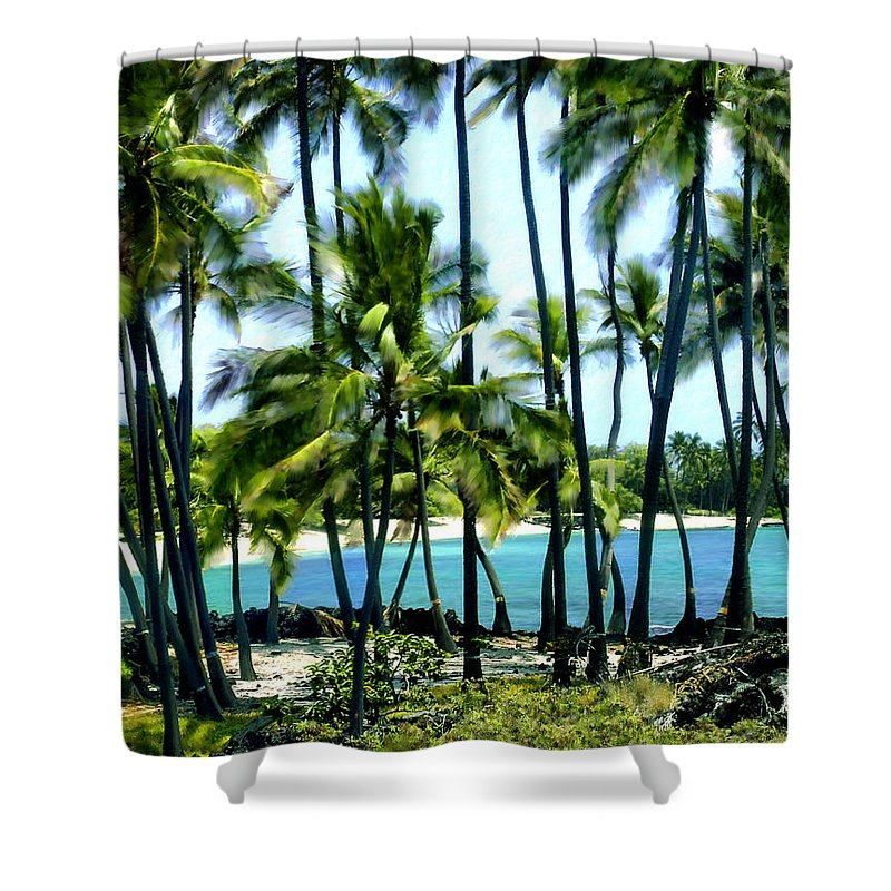 Hawaii Shower Curtain featuring the photograph Afternoon At Kakaha Kai by Kurt Van Wagner