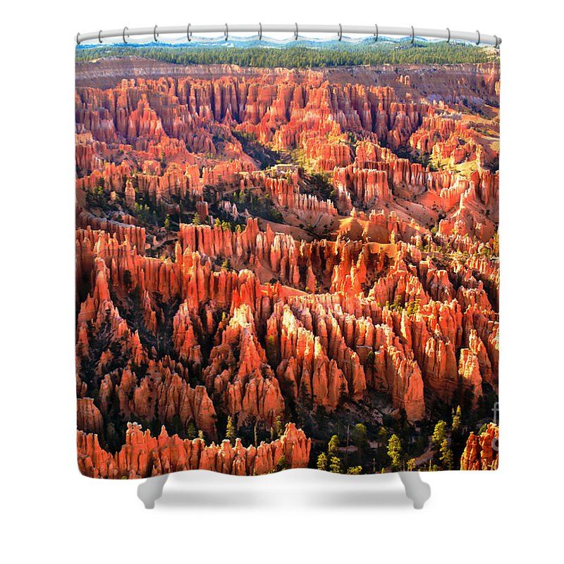 Bryce Canyon Shower Curtain featuring the photograph Afternoon Hoodoos by Robert Bales