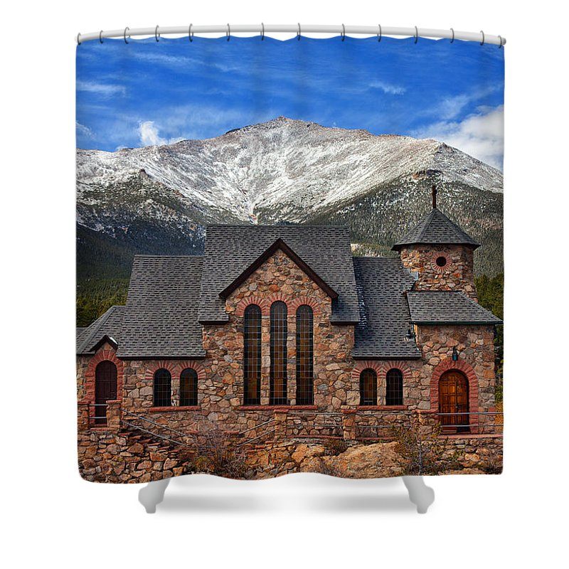 Colorado Landscapes Shower Curtain featuring the photograph Afternoon Mass by Darren White