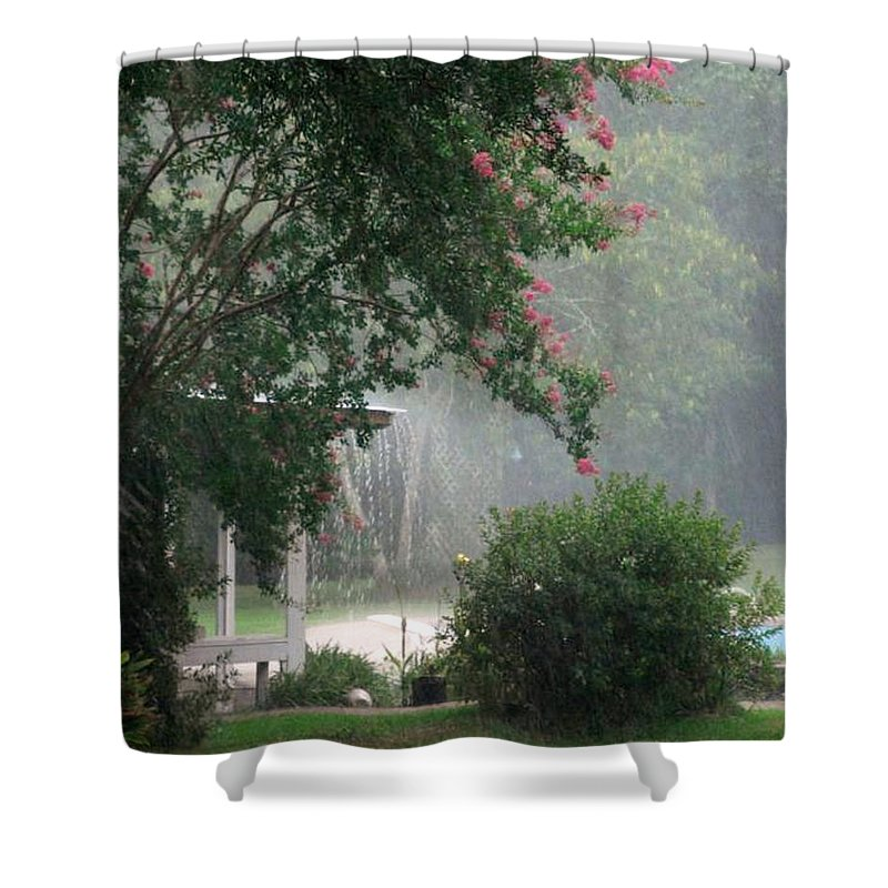 Garden Shower Curtain featuring the photograph Afternoon Showers by N S