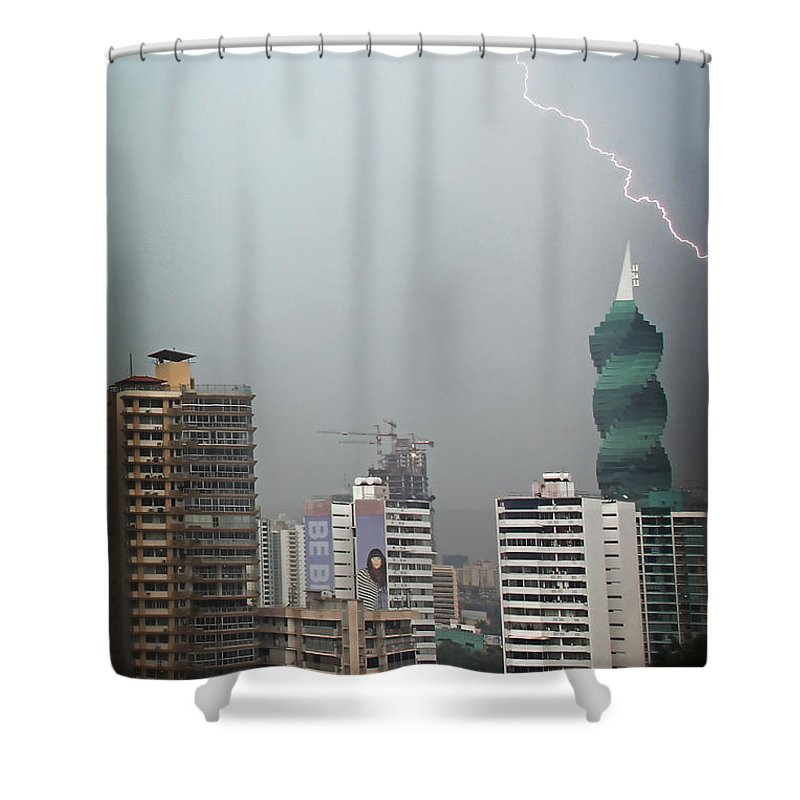Panama Shower Curtain featuring the photograph Afternoon Storm by Bob Hislop