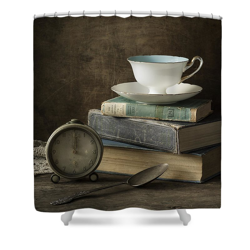Tea Cup Shower Curtain featuring the photograph Afternoon Tea by Amy Weiss