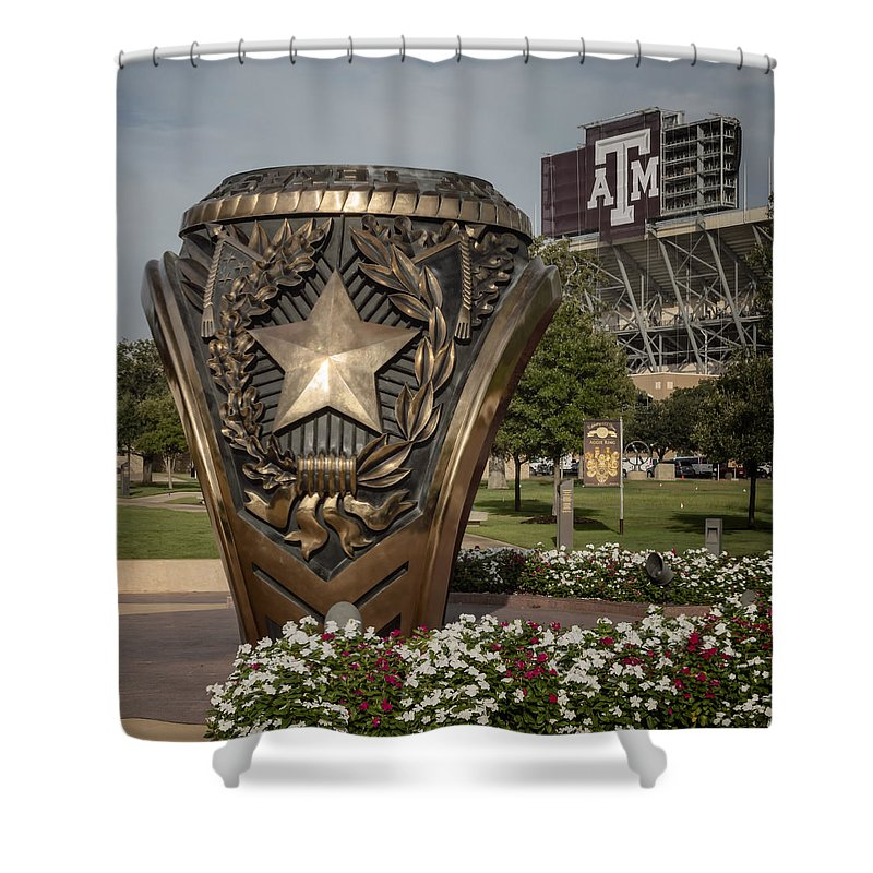 Joan Carroll Shower Curtain featuring the photograph Aggie Ring by Joan Carroll