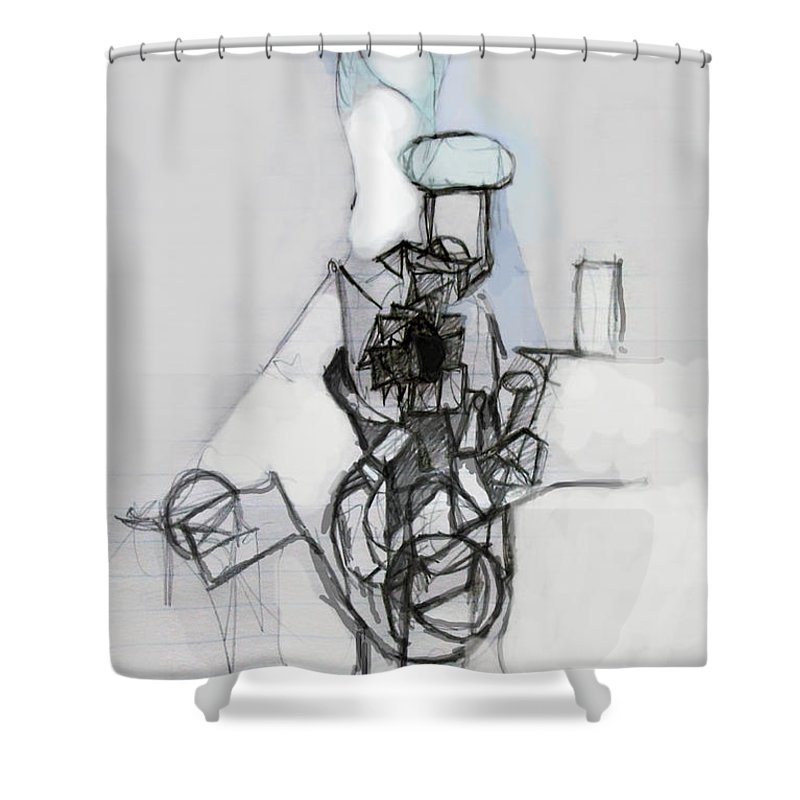 Torah Shower Curtain featuring the digital art Self-renewal 14c by David Baruch Wolk