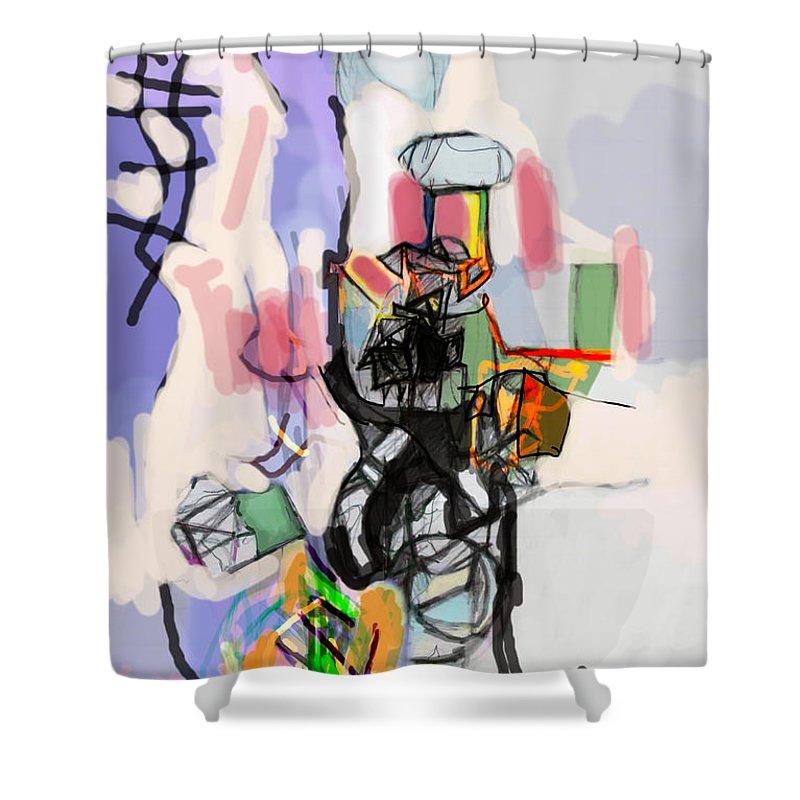 Torah Shower Curtain featuring the digital art Self-renewal 14h by David Baruch Wolk