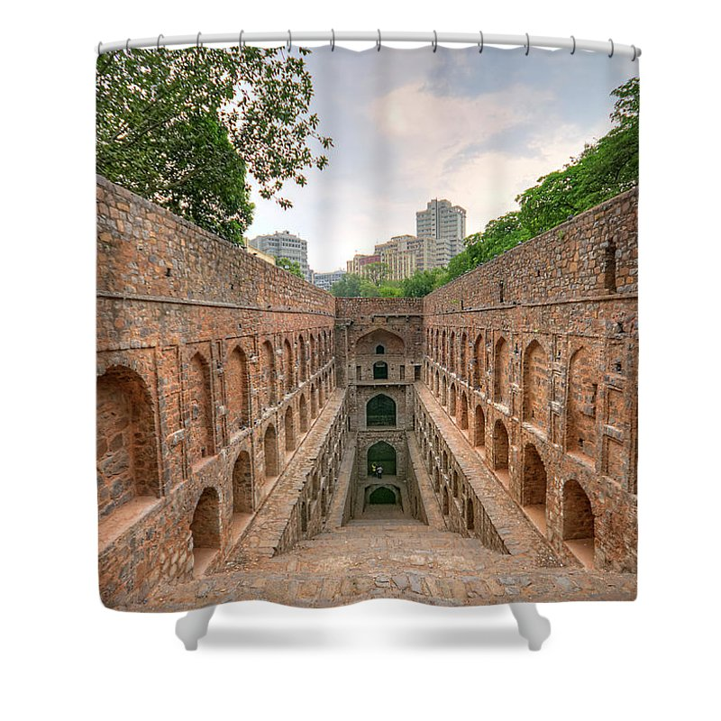 Tranquility Shower Curtain featuring the photograph Agrasen Ki Baoli, New Delhi by Mukul Banerjee Photography