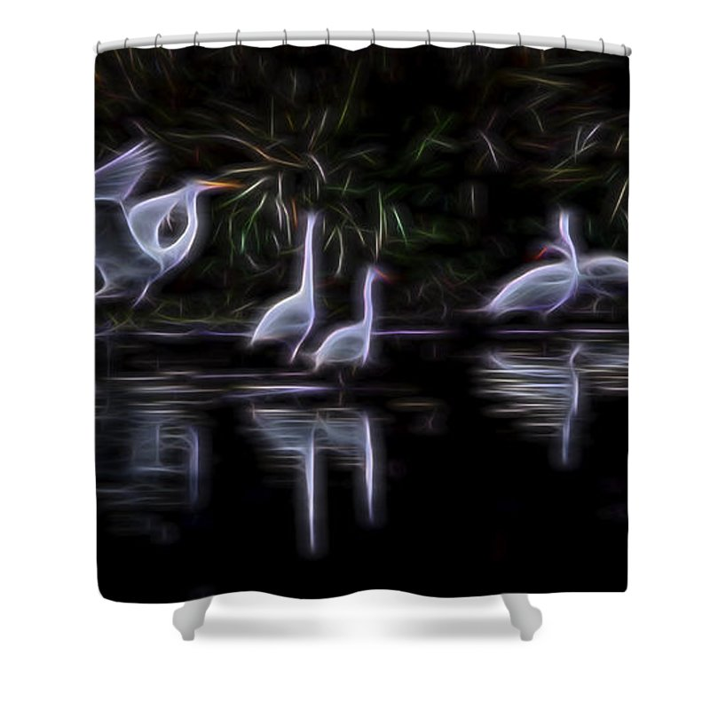 Nature Shower Curtain featuring the digital art Air Elementals 3 by William Horden