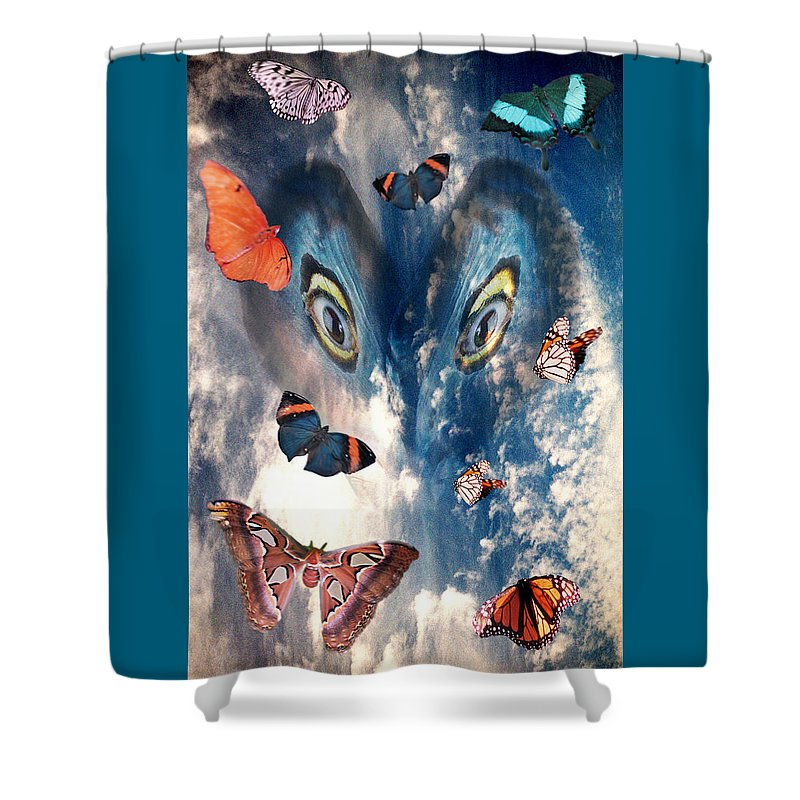 Air Shower Curtain featuring the digital art Air by Lisa Yount