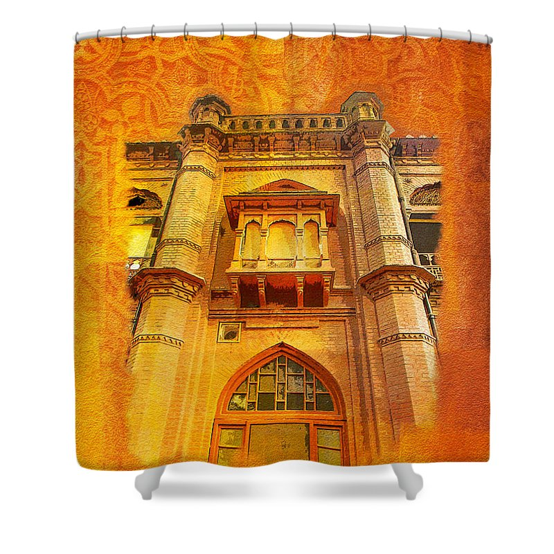 Pakistan Shower Curtain Featuring The Painting Aitchison College By Catf