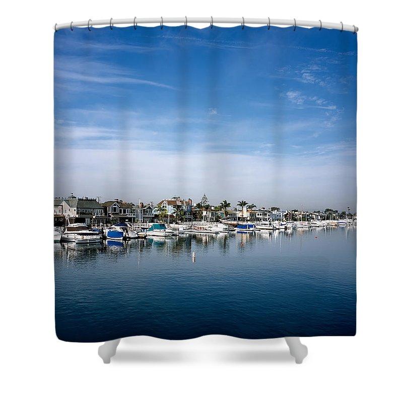 Alamito Bay Shower Curtain featuring the photograph Alamito Bay Marina by Mountain Dreams