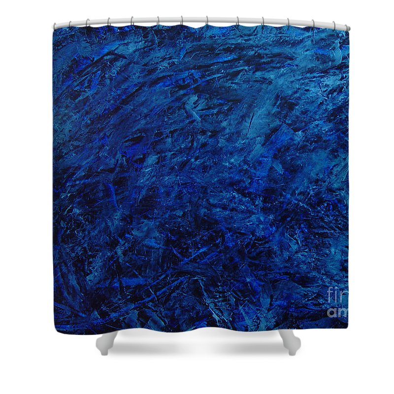 Abstract Shower Curtain featuring the painting Alans Call by Dean Triolo