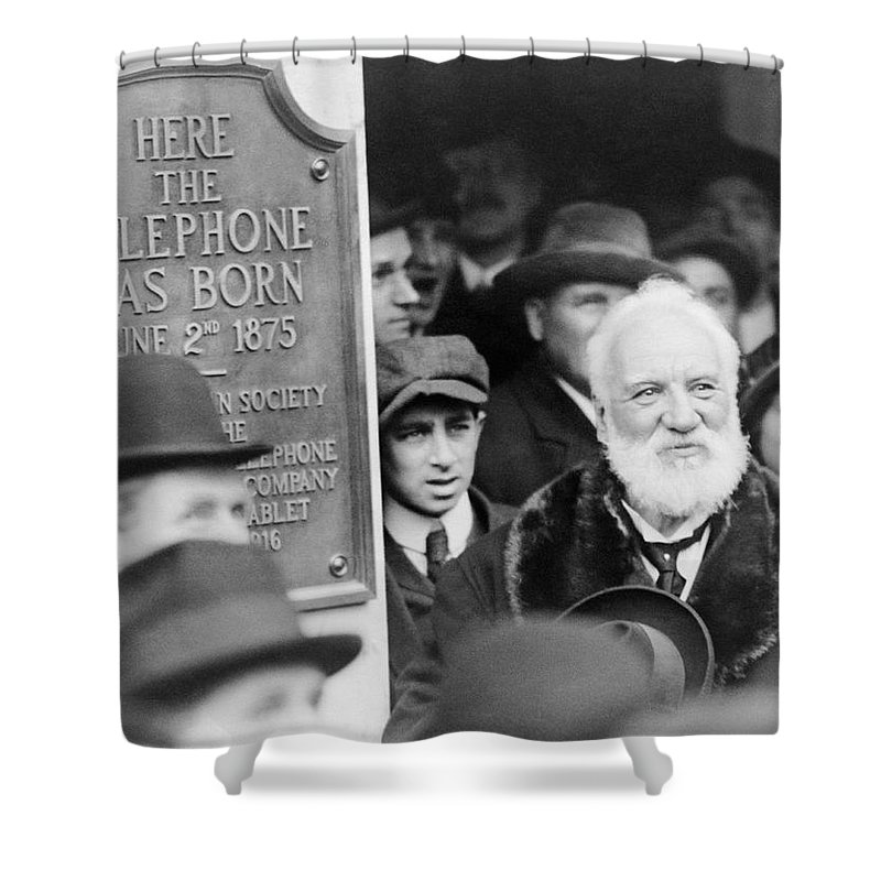 1910s Shower Curtain featuring the photograph Alexander Graham Bell by Richard Sears