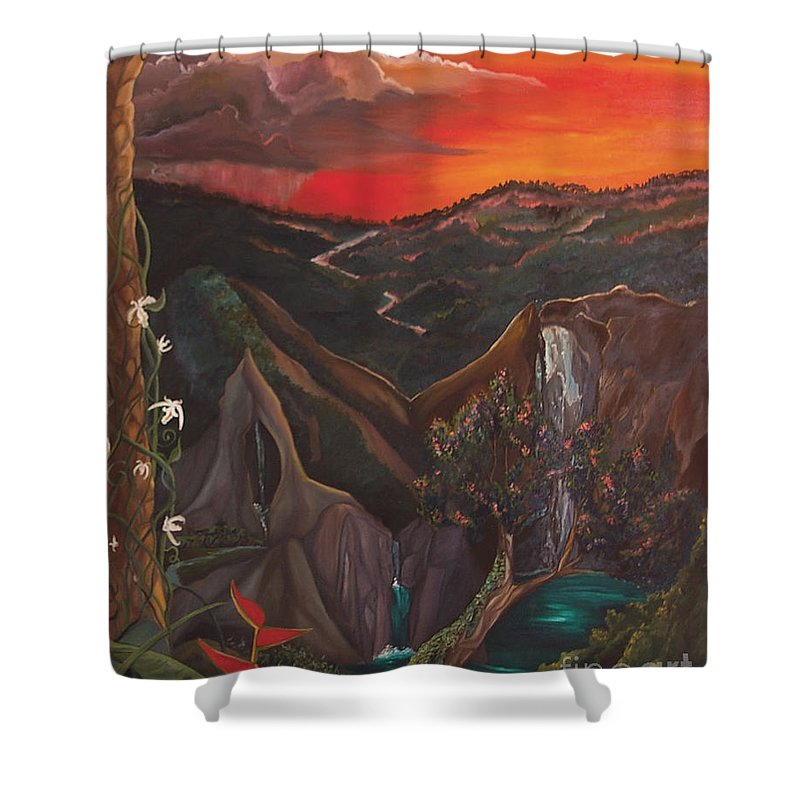 Regina Gallant Shower Curtain featuring the painting Alexandria African Rain by Regina Marie Gallant