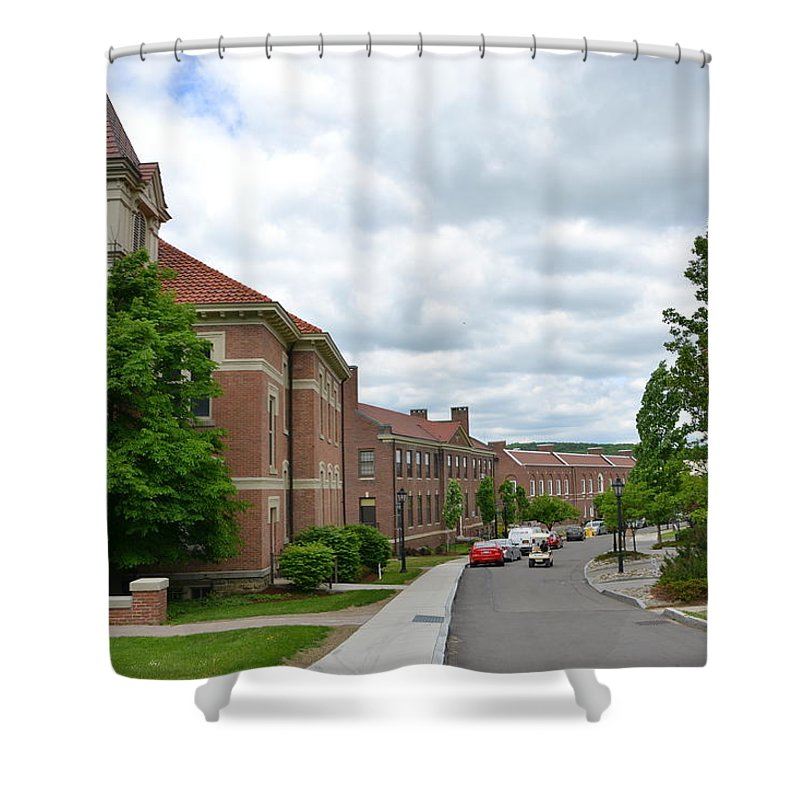 Shower Curtain featuring the photograph Alfred University by Katerina Naumenko