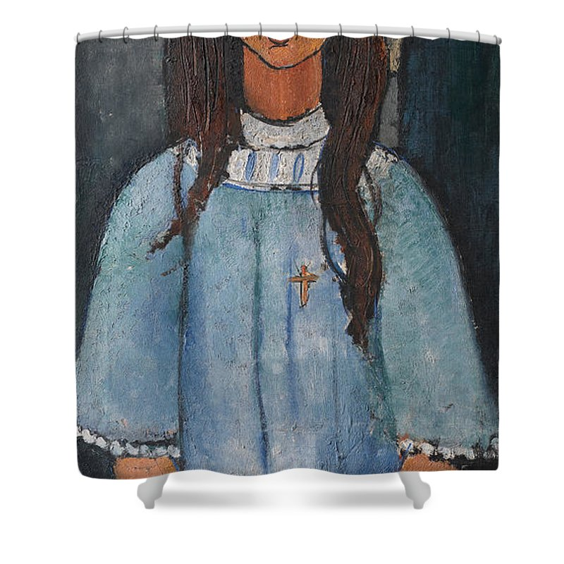 Amedeo Modigliani Shower Curtain featuring the painting Alice by Amedeo Modigliani