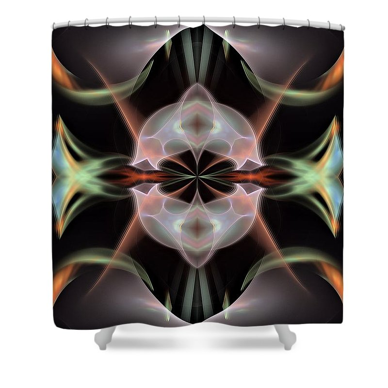 Nevada Shower Curtain featuring the digital art Alien-panel-left-or-right by Bill Campitelle