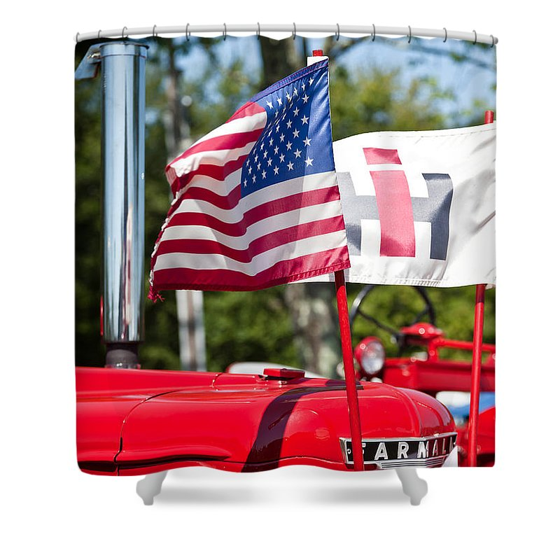 Tractor Shower Curtain featuring the photograph All American by Bill Wakeley