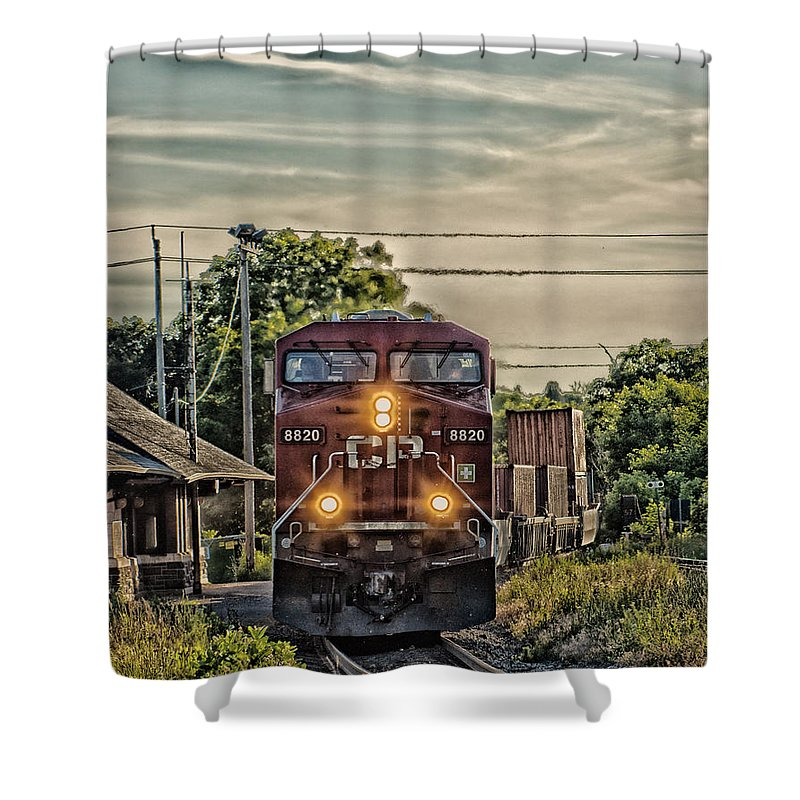 Photography Shower Curtain featuring the photograph All Board by Vincent Dwyer