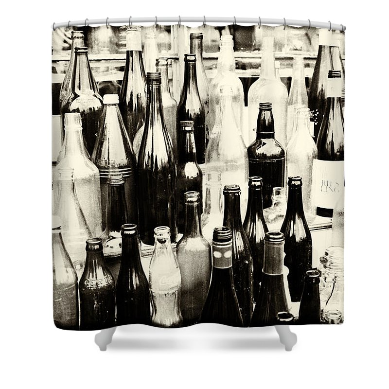 Bottles Shower Curtain featuring the photograph All Kinds by Karol Livote