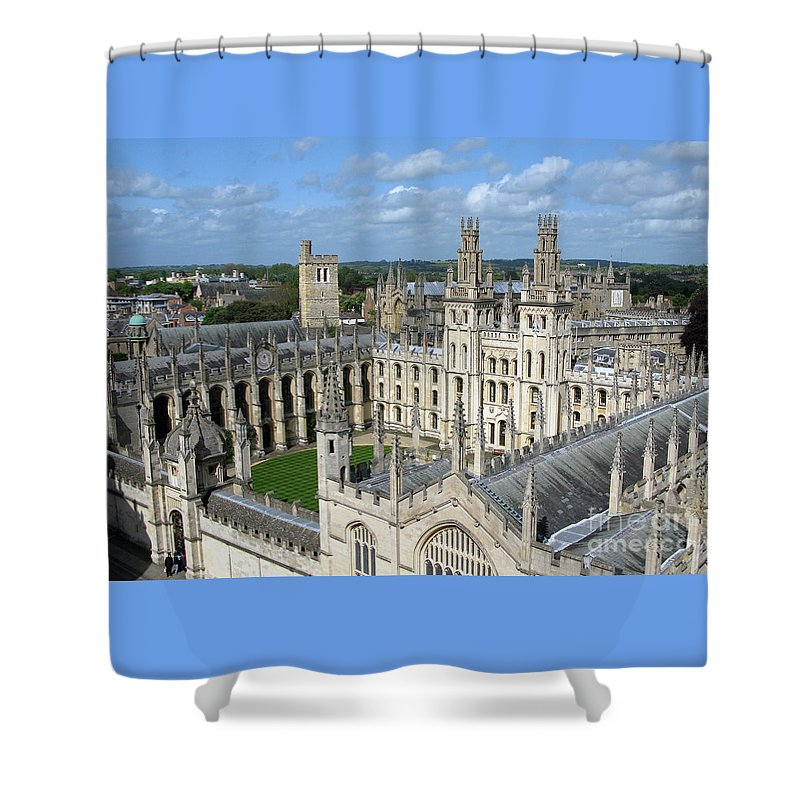 Oxford Shower Curtain featuring the photograph All Souls College by Ann Horn