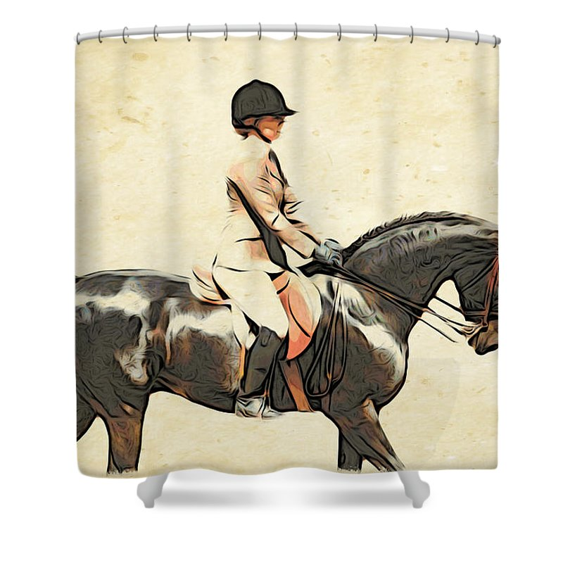 Horse Shower Curtain featuring the photograph All Turned Out by Alice Gipson