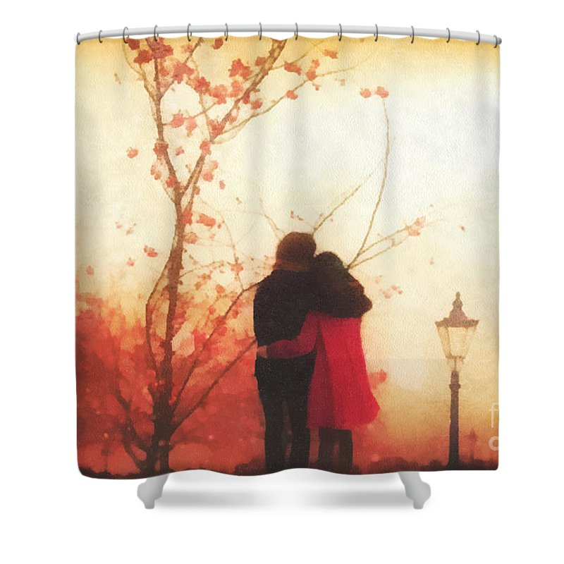 All You Need Shower Curtain featuring the painting All You Need by Mo T