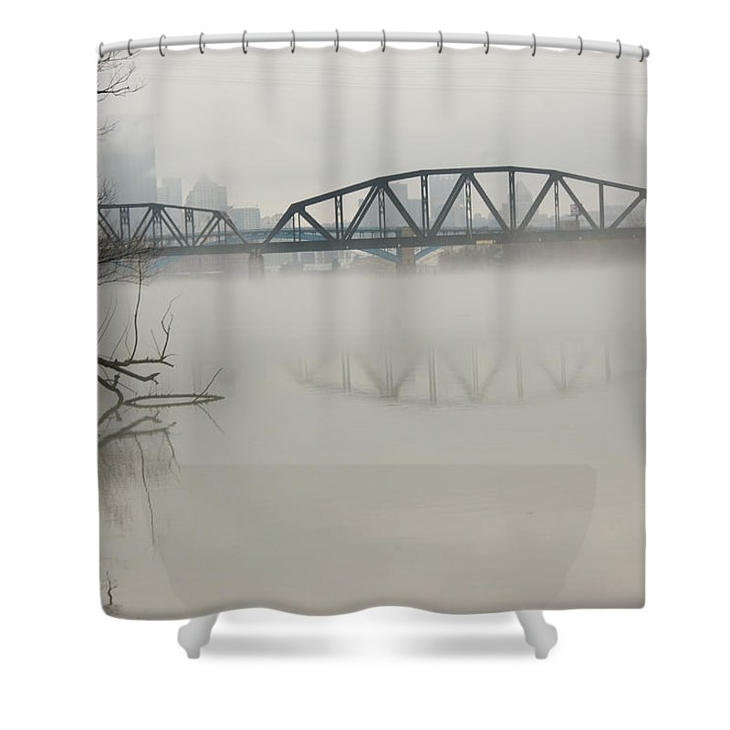 Landscape Shower Curtain featuring the photograph Allegheny In The Mist by Jay Ressler