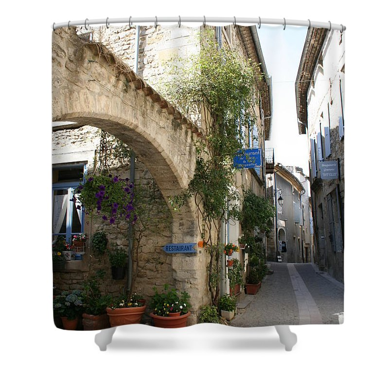 Alley Shower Curtain featuring the photograph Alley In The Procence by Christiane Schulze Art And Photography