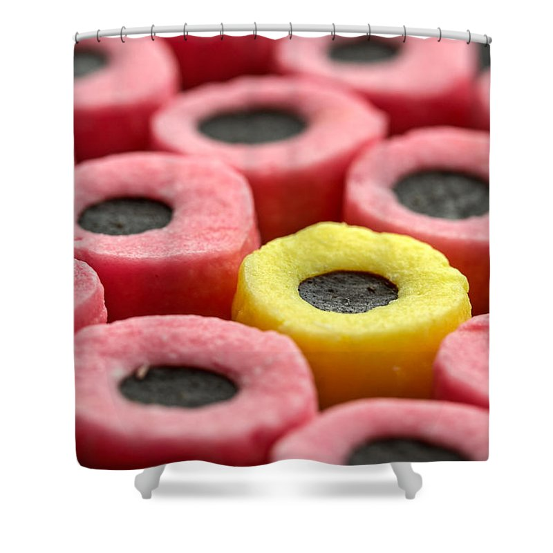 Liquorice Shower Curtain featuring the photograph Allsorts by Nigel R Bell