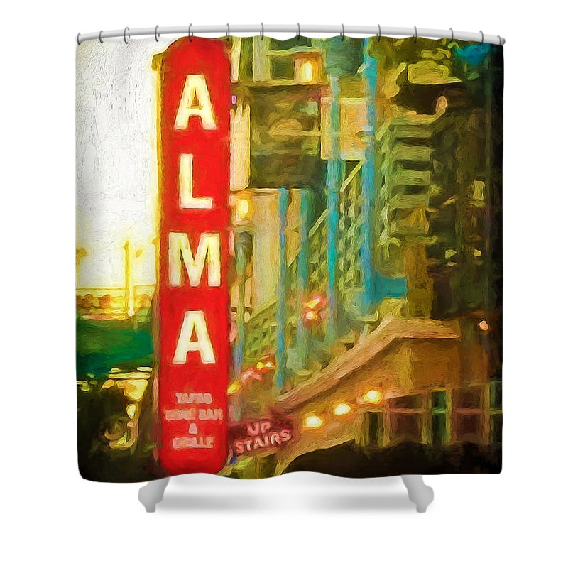 Alma Shower Curtain featuring the photograph Alma by Perry Webster