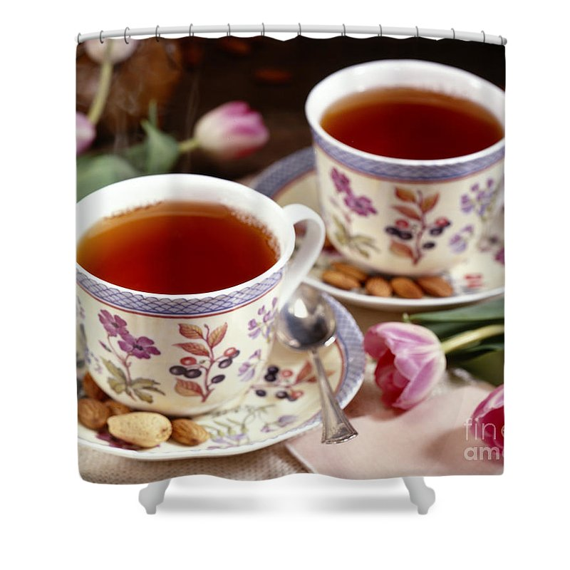 Food Shower Curtain featuring the photograph Almond Tea For Two by Iris Richardson