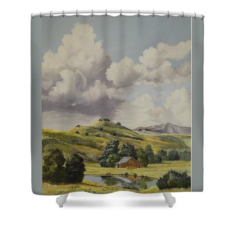 Bern Shower Curtain featuring the painting Almost Harvest Time by Wanda Dansereau