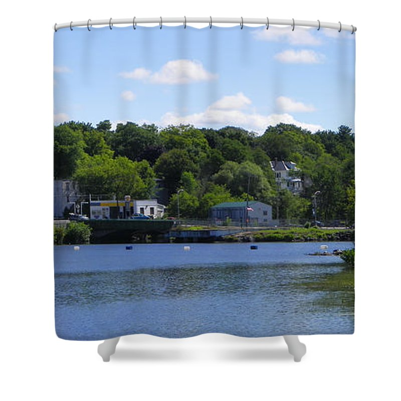 River Shower Curtain featuring the photograph Almost Home by Georgia Hamlin