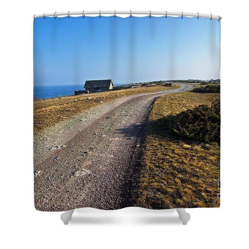 Dirt Shower Curtain featuring the photograph Along The Coast Of Baltic Sea by Kennerth and Birgitta Kullman