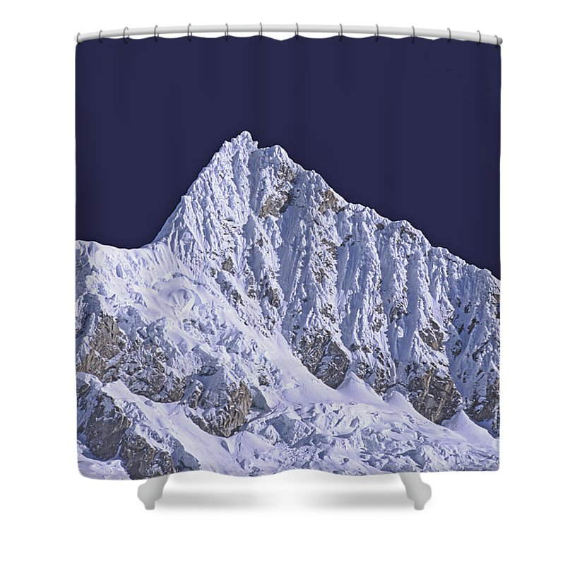 Landscape Shower Curtain featuring the photograph Alpamayo Peru by Rudi Prott