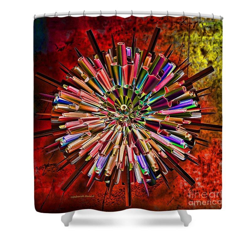Ego Shower Curtain featuring the digital art Alter Ego by Deborah Benoit