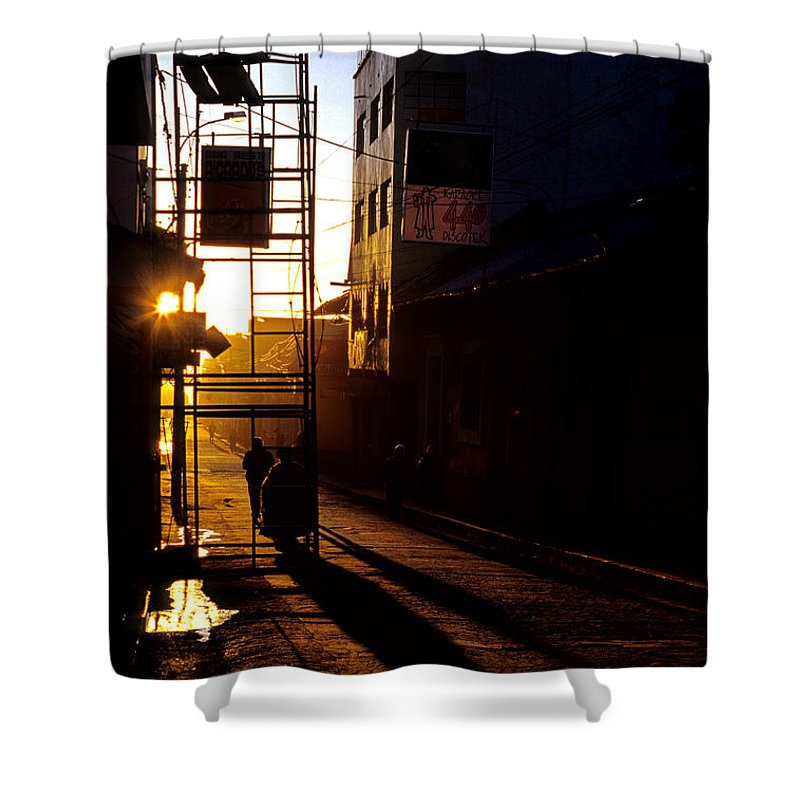 World Travel Shower Curtain featuring the photograph Altiplano Morning by Ryan Fox