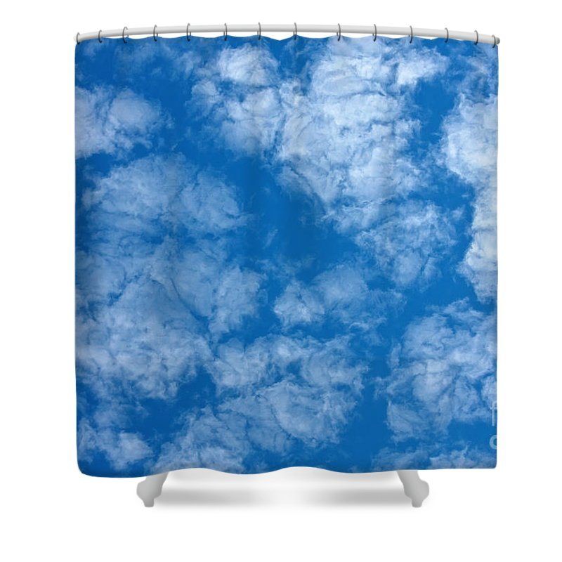Weather Shower Curtain featuring the photograph Altocumulus Cloud. by Jan Brons